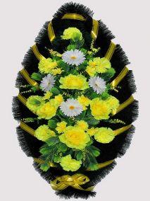 Траурный венок из искусственных цветов #15
