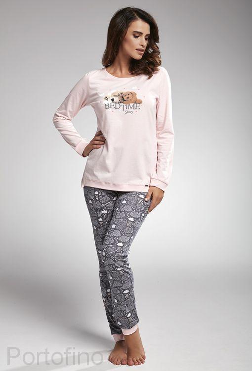 160-168 женская пижама длин.рукав Cornette