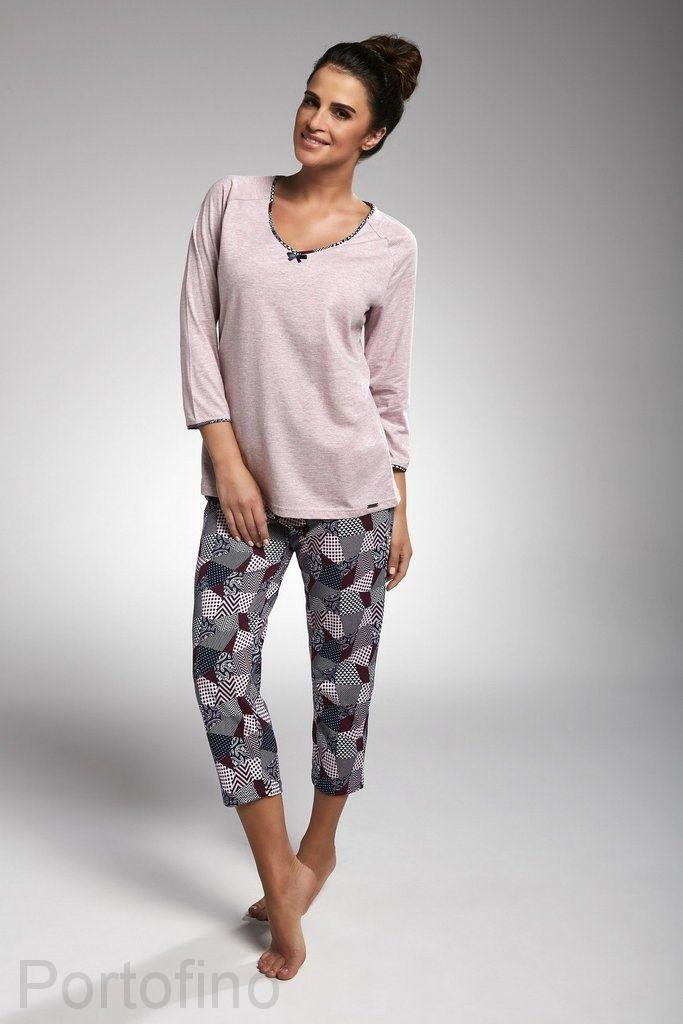 162-176 женская пижама длин.рукав Cornette