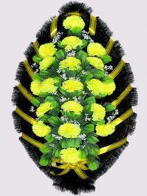 Траурный венок из искусственных цветов #1