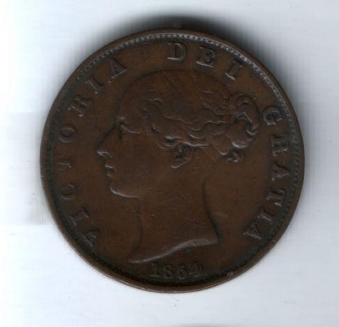 1/2 пенни 1854 года Великобритания