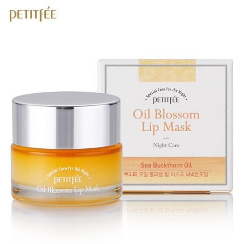 [PETITFEE] Маска д/губ с витамином Е и маслом облепихи Oil Blossom Lip Mask (Sea Buckthorn oil)