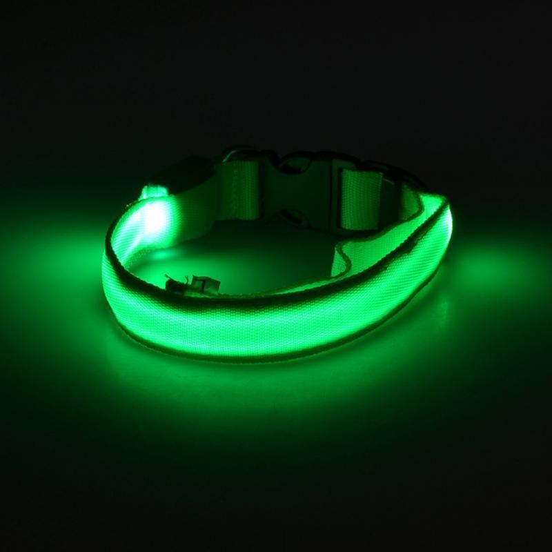 Светящийся Ошейник, Цвет Зеленый