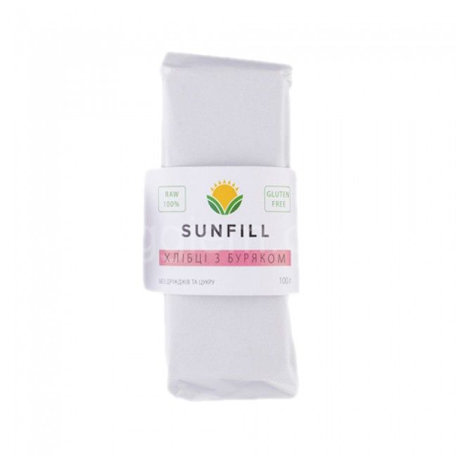 Сыроедческие сухарики с Буряком Sunfill,100 грамм