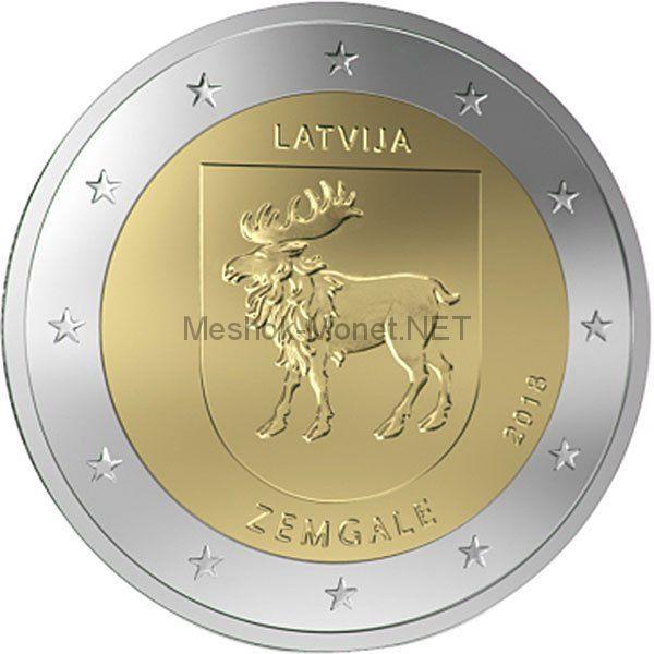 Латвия, 2 евро 2018, Провинция Земгале