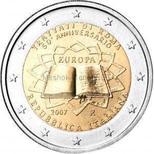 Италия 2 евро 2007 Римский договор
