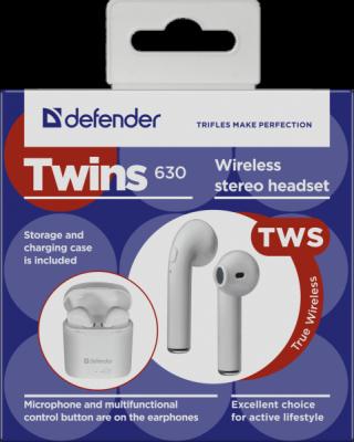 Беспроводная гарнитура Twins 630 белый,TWS, Bluetooth