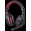Игровая гарнитура Garuda красный + черный, кабель 2 м