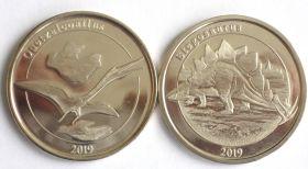 Динозавры набор 1 франк Майотта Франция 2019 (5 серия)