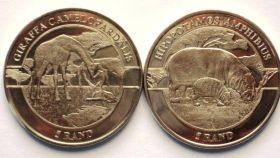 Фауна Африки    1 ранд Республика Венда 2018 .Набор из 2 монет
