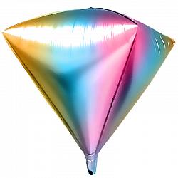 Радужный шар-кристалл 3D нежного оттенка