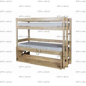 Кровать-трансформер двухъярусная Знайка Эко