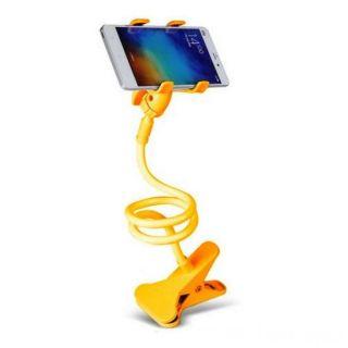 Гибкий держатель-прищепка для телефонов и мини планшетов, Жёлтый