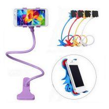 Гибкий держатель-прищепка для телефонов и мини планшетов, Фиолетовый