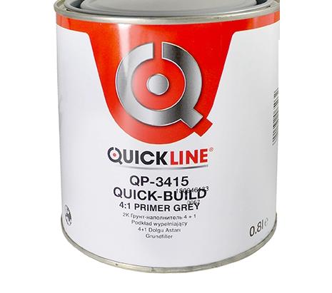 Quickline КОМПЛЕКТ 2К Грунт- наполнитель Quick-Build 4:1 серый (G4) + отвердитель MS стандартный, 800мл. + 200мл.