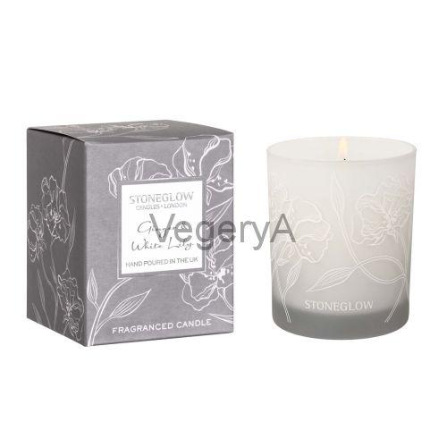 Свеча Имбирь и Белая лилия StoneGlow Дневные цветы