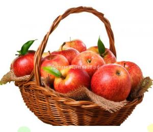 Корзина с красными яблочками