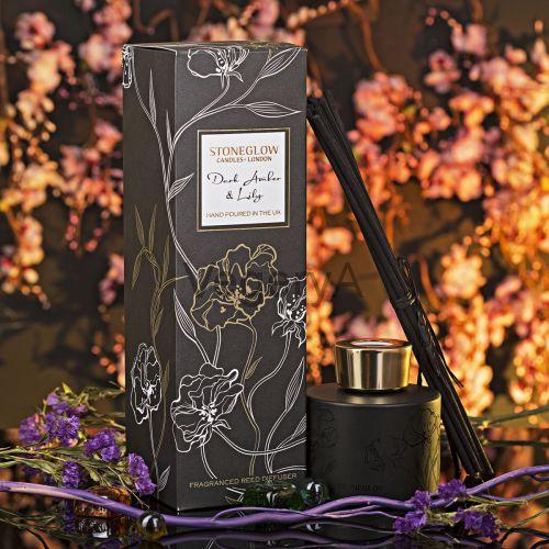 Диффузор Тёмная амбра и Лилия StoneGlow Ночные цветы