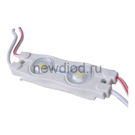 Светодиодный модуль с линзой PREMIUM SMD 2835/2LED 50х15х6мм 1W 100Lm IP65 160 ° (пласт.корпус) (белый холодный)