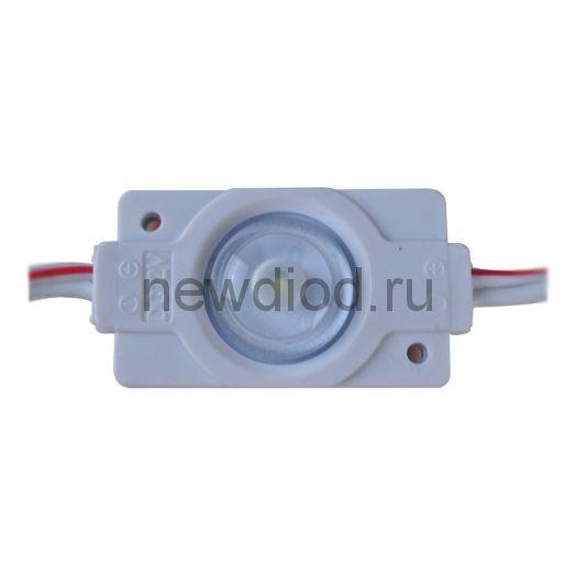 Светодиодный модуль мини с линзой PREMIUM SMD 2835/1LED 16х16х6мм 0,6W 55Lm IP65 160° (пласт.корпус) (белый холодный)
