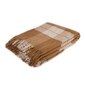 Плед из шерсти альпака Каштан