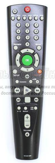 BBK RC-026-05R DVD плеер+USB+караоке