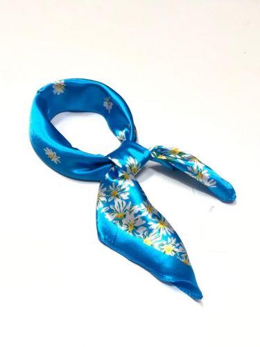 Малые платки с цветочным рисунком из натурального шёлка 50х50см LV062