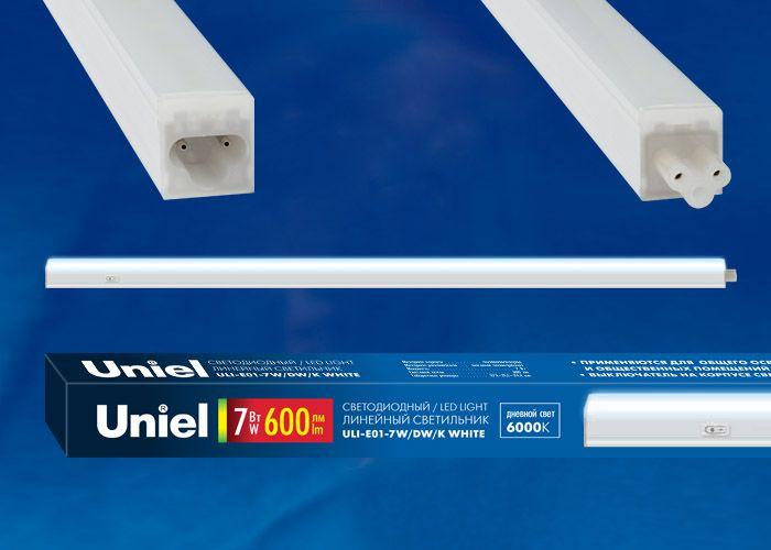 Светильник линейный  Uniel ULI-E01-7W/NW/K 7W