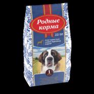 РОДНЫЕ КОРМА сухой корм для взрослых собак крупных пород, (16,38 кг)