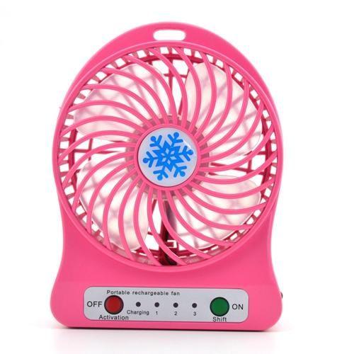 USB-вентилятор PORTABLE LITHIUM BATTERY FAN, розовый