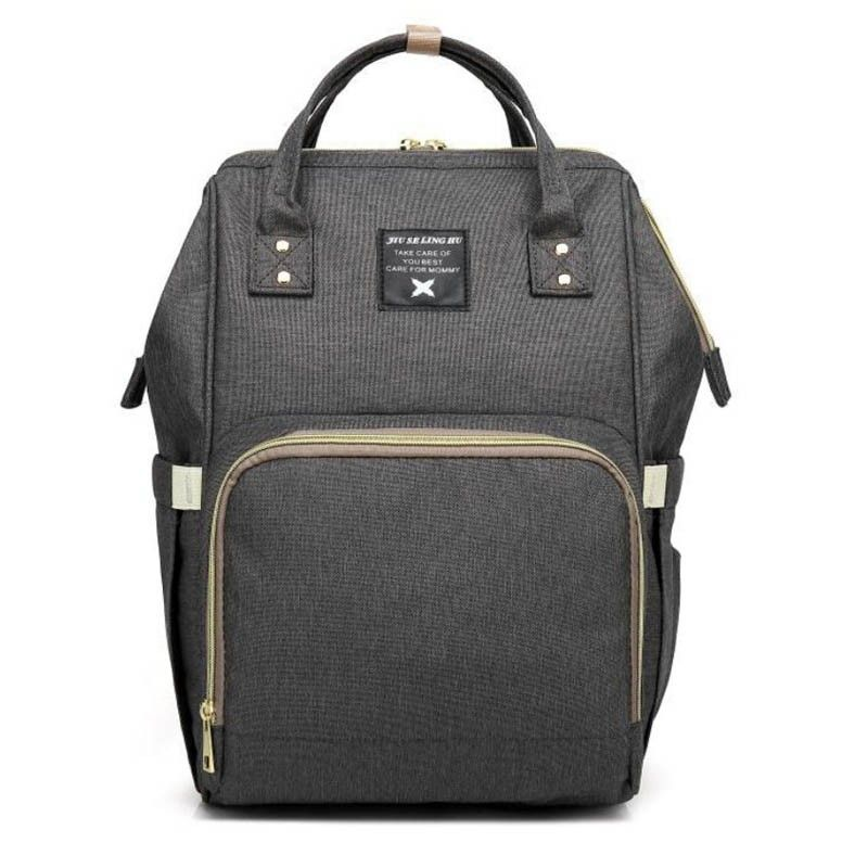 Сумка-Рюкзак Для Мамы Baby Mo (Mummy Bag), Цвет Темно-Серый