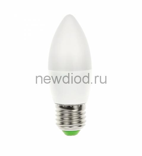Лампа светодиодная LED-СВЕЧА-VC 6Вт 230В Е27 4000К 480Лм IN HOME