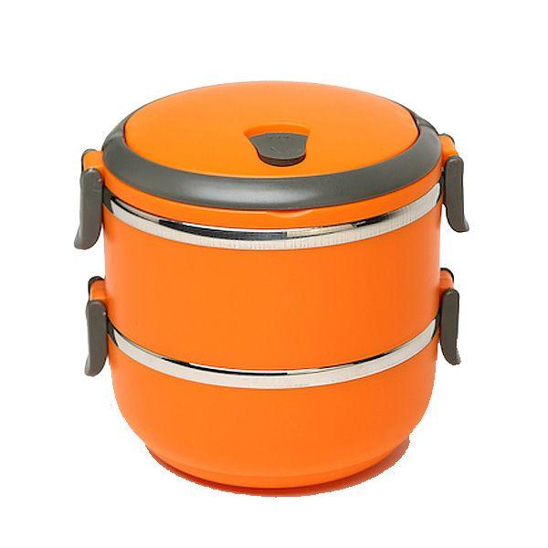 Термо Ланч-Бокс Из Нержавеющей Стали, 1.4 Л, Оранжевый