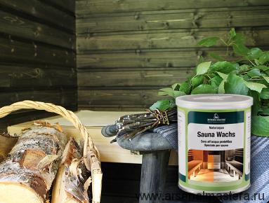 Воск для сауны, парной на водной основе 0,75л Borma Sauna черный NAT3361-60
