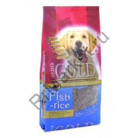 Корм для взрослых собак: рыбный коктейль, рис и овощи