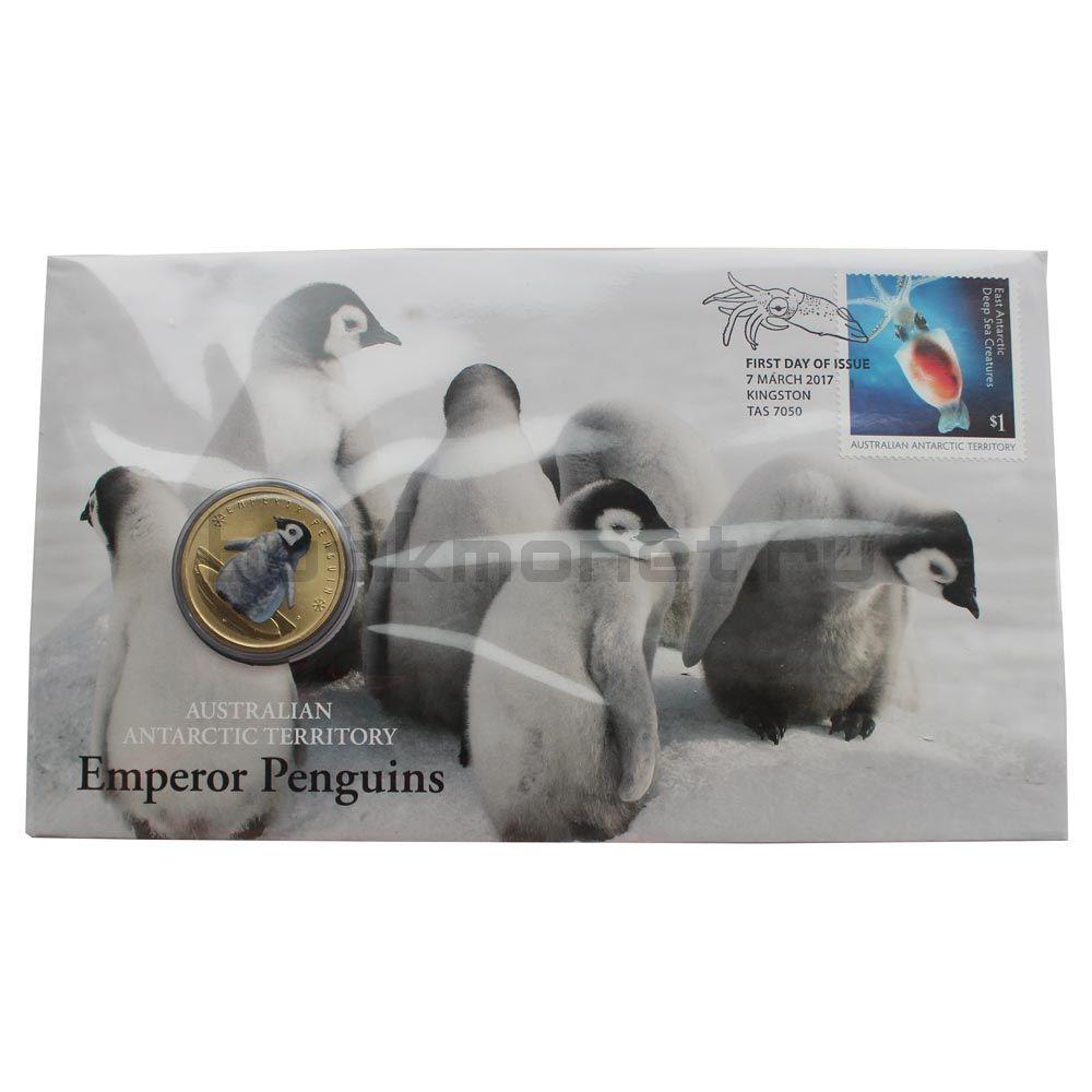 1 доллар 2017 Тувалу Императорский пингвин (Полярные детёныши)