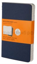 Книжка зап.Moleskine Pocket Cahier линейка синяя индиго CH211