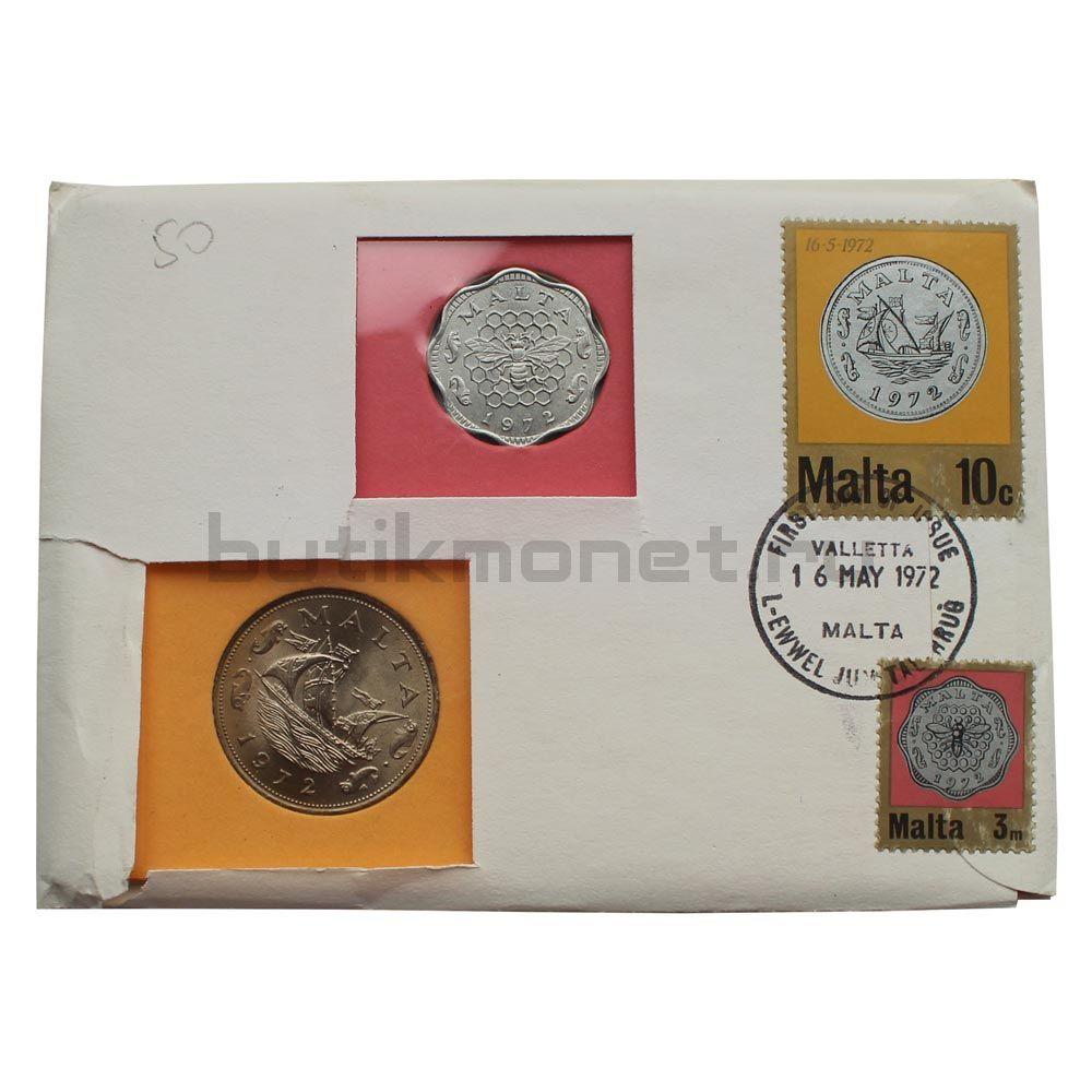 Набор монет 1972 Мальта (2 штуки)
