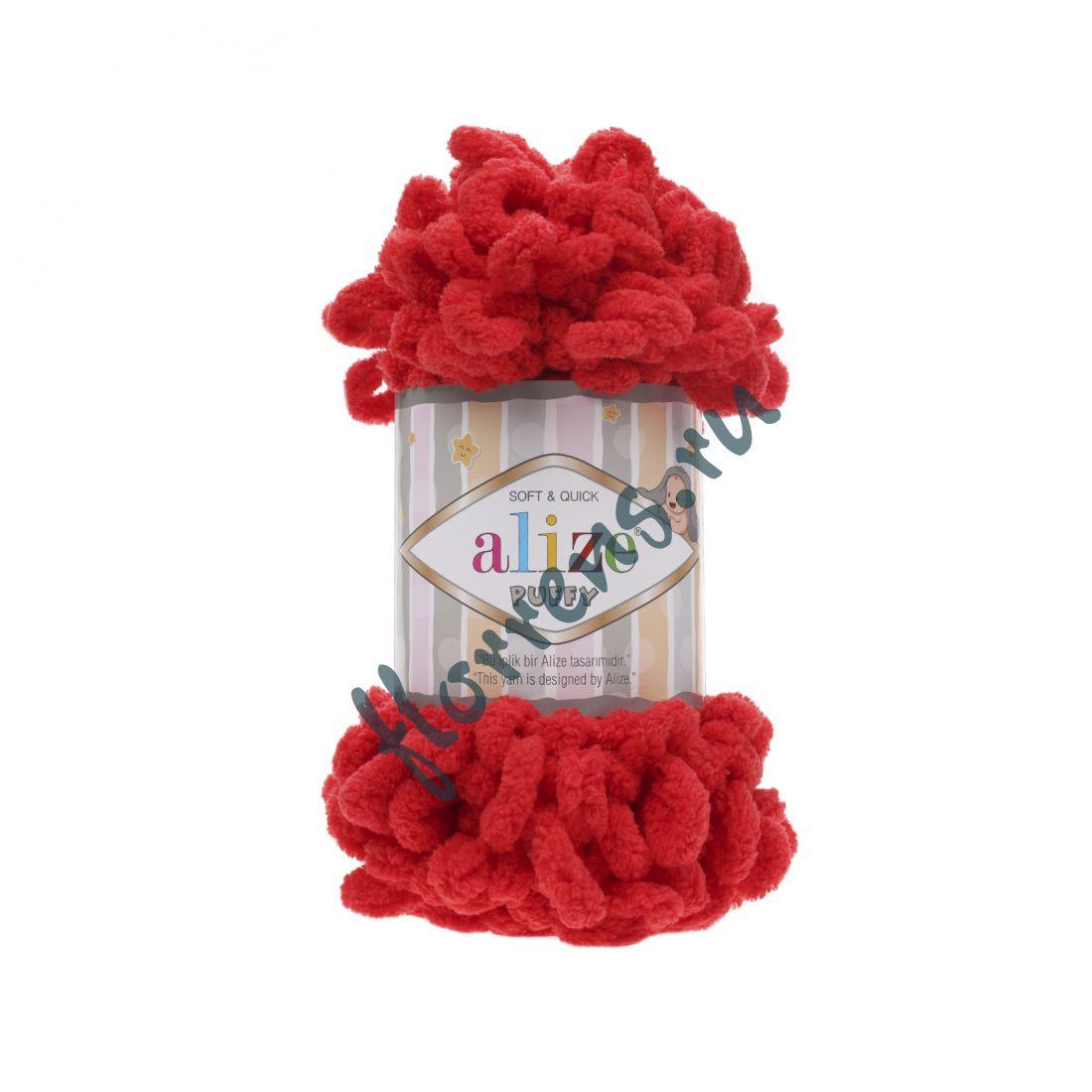 Пряжа Alize Puffy / 56 красный