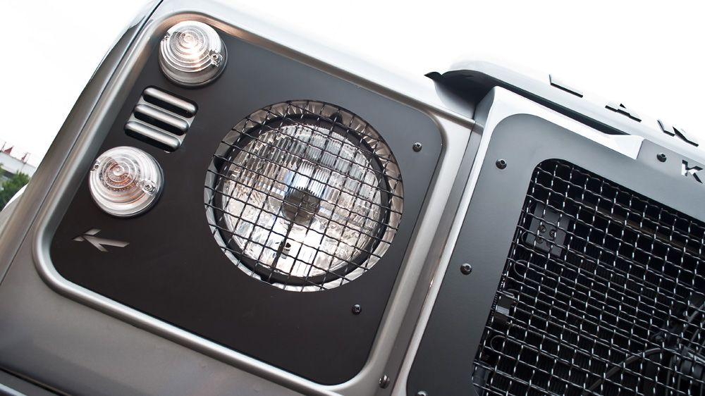 Накладки на передние фары (Land Rover Defender)