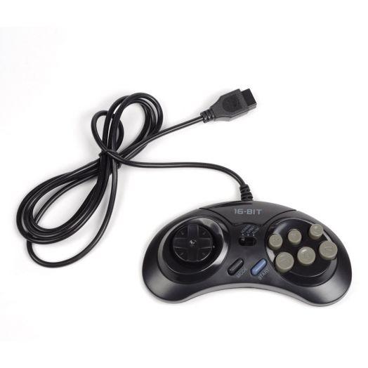 Sega Controller Turbo (1. 5 М) черный