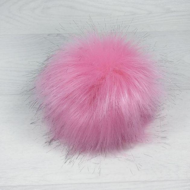 пом1000-47 Помпон из искуственного меха розовый