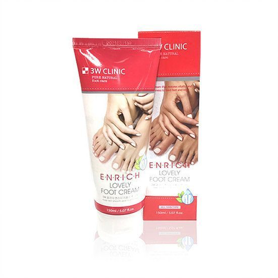 3W CLINIC Крем для ног Enrich Lovely Foot Treatment, 150мл