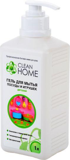 Clean Home Гель для мытья детской посуды и игрушек с дозатором 1 л