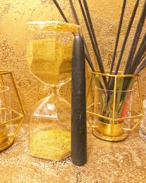 Черная восковая свеча 15 х 1.9 см