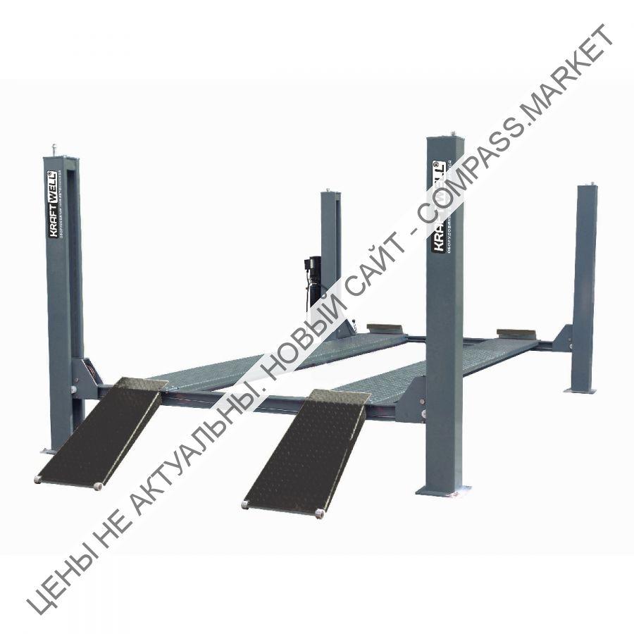 Подъемник четырехстоечный г/п 6500 кг. платформы гладкие