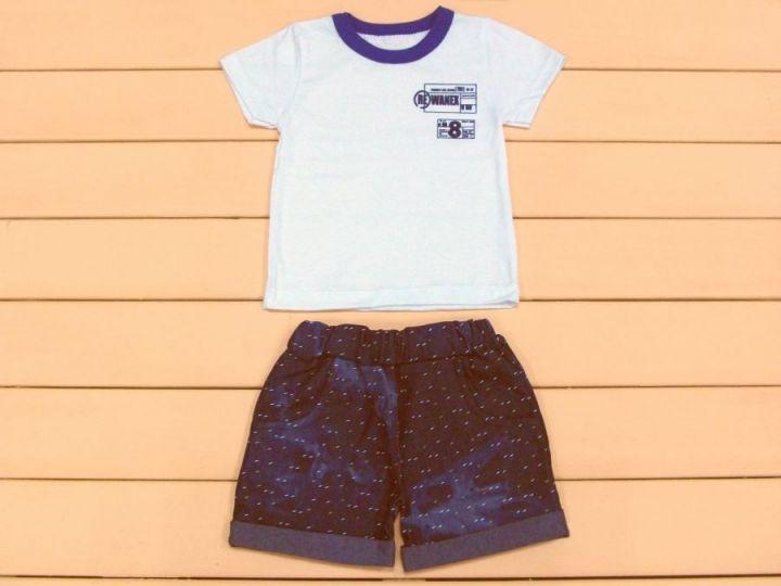 Костюм: футболка, шорты с отворотом и карманами kA-KS069(k)-JNk