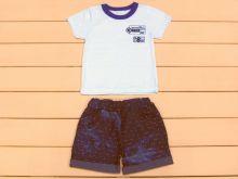 """Костюм для мальчика: футболка, шорты с отворотом и карманами kA-KS069(k)-JNk """"Мамин Малыш"""" код 01680"""