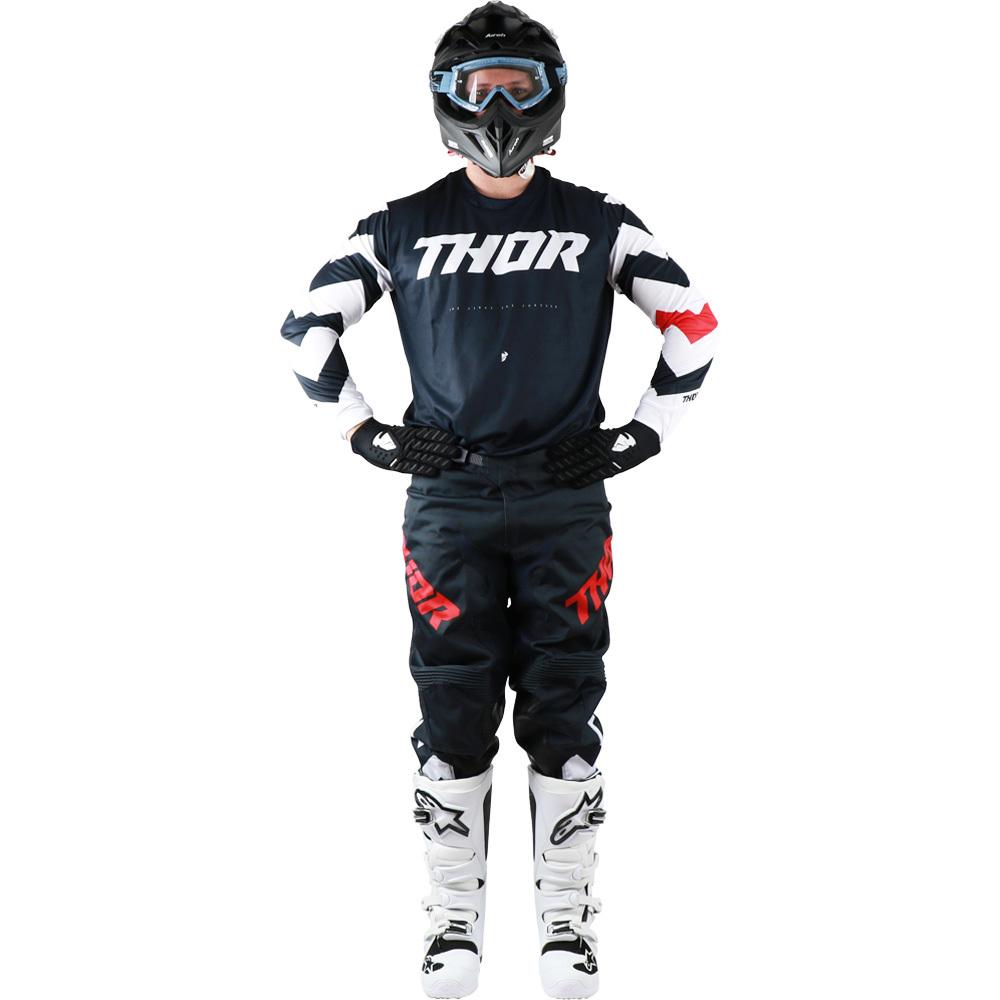 Thor - 2019 Pulse Stunner Midnight/White комплект джерси и штаны, сине-белый