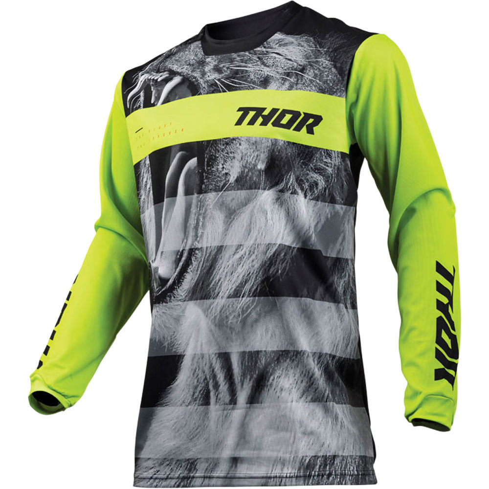 Thor - 2019 Pulse Savage Big Kat Black/Lime джерси, черно-желтое